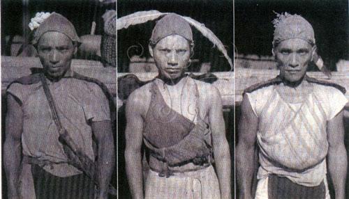 北鄒族男性外型特徵(採自瀨川孝吉,2000)