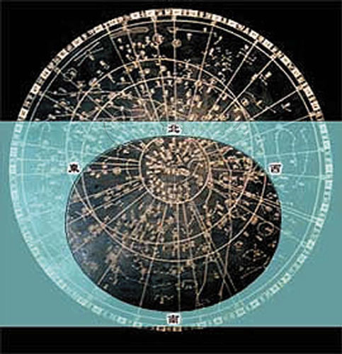 以現代星座盤觀測的方式參閱蘇州石刻天文圖所製作的星座盤