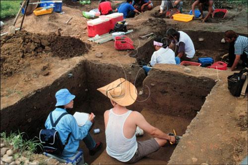 營埔遺址發掘現場