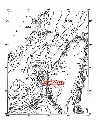 澎湖海溝位置圖。