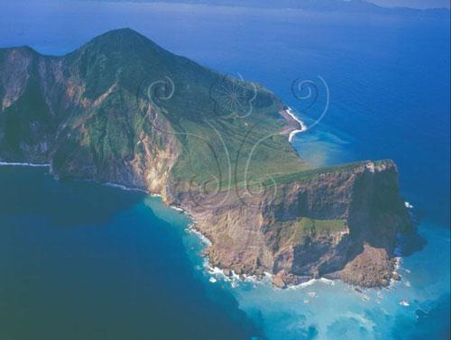 龜山島空照圖。