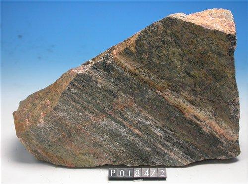 25億年前花崗閃長岩。採集地點:中國大陸內蒙古地區阿拉善地塊。