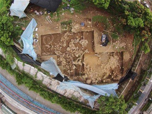 北葉I遺址搶救發掘區空拍照片(圖片上方為北)