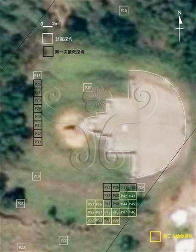 搶救發掘探坑位置