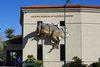 亞利桑那州自然史博物館,牆上有隻破牆而出的高棘龍複製品